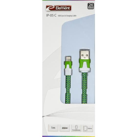 Charging Cable Element for iPhone 5 1m IP-05G