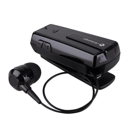 Stereo Retractable Bluetooth Headset Black UA33ST