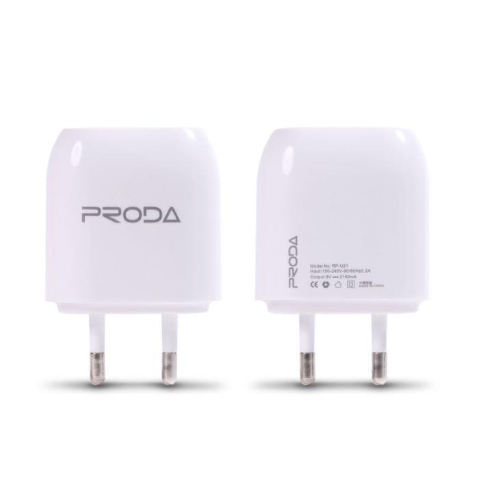 Charger Remax 2.1A Proda RP-U21(oxi)
