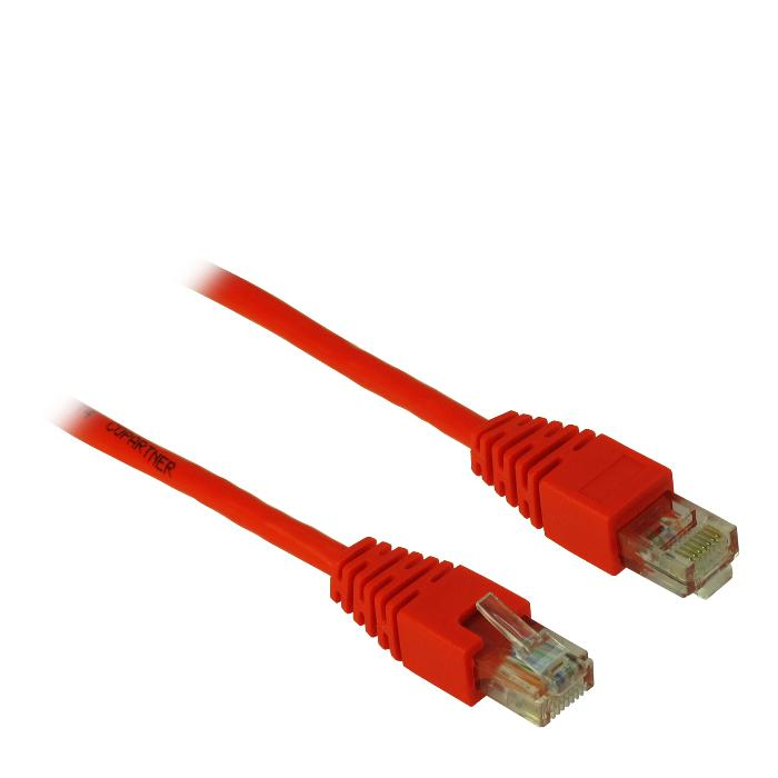 Cable UTP patch CAT5 0.5m Inter-Tech Red