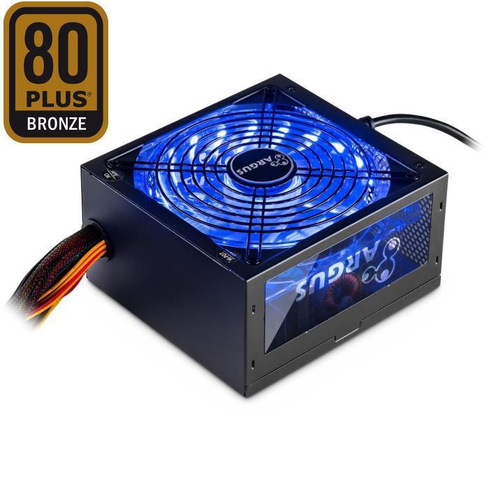 Psu ATX Inter-Tech  Argus RGB-600W 80+ Bronze