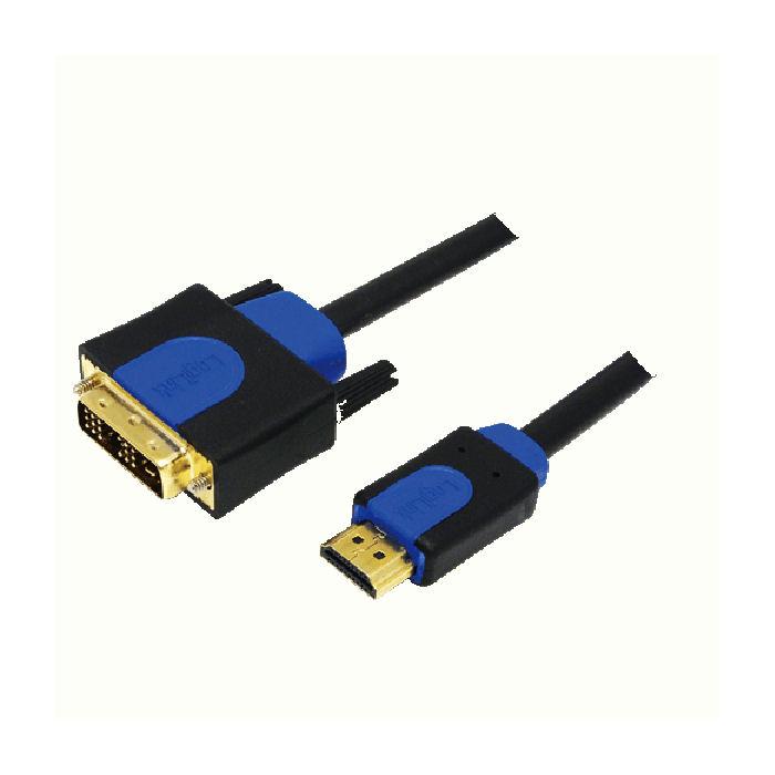 Cable HDMI/DVI Retail 2m Logilink CHB3102