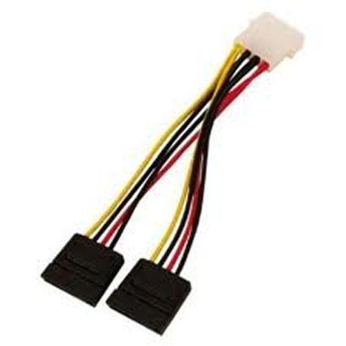 Cable 2xSata 15pin to 5.25'' 4pin male 0.15m Bulk Logilink CS0007