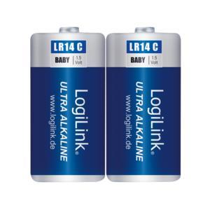 Battery Alkaline 1.5V Logilink LR14B2 2pcs