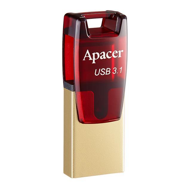 USB 3.1 Gen & Type-C Dual Flash Drive AH180 64GB Red RP