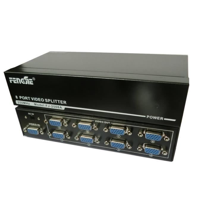 Video Splitter 1pc-8Monitors 250MHz  Aculine SPL-011
