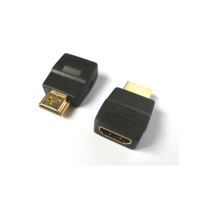 Mini HDMI adapter M/F degree180 Aculine