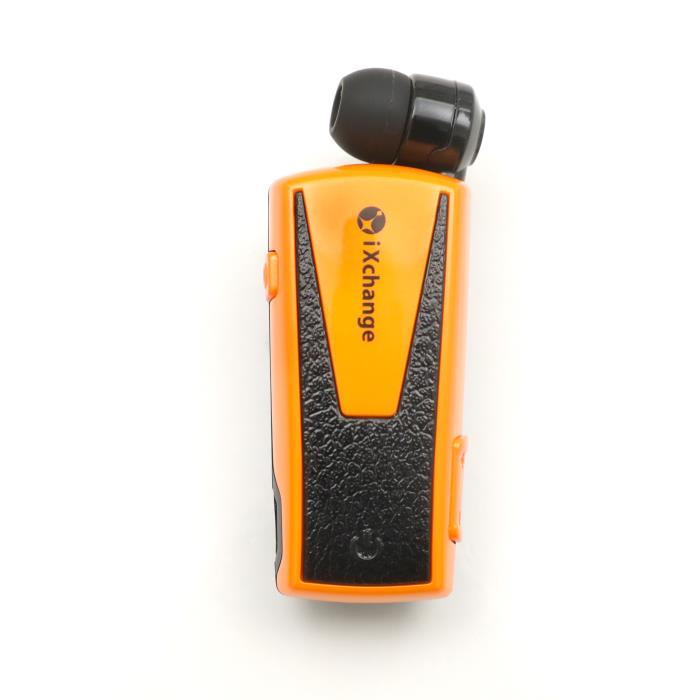 Retractable BT Headset w App iXchange UA42 Orange